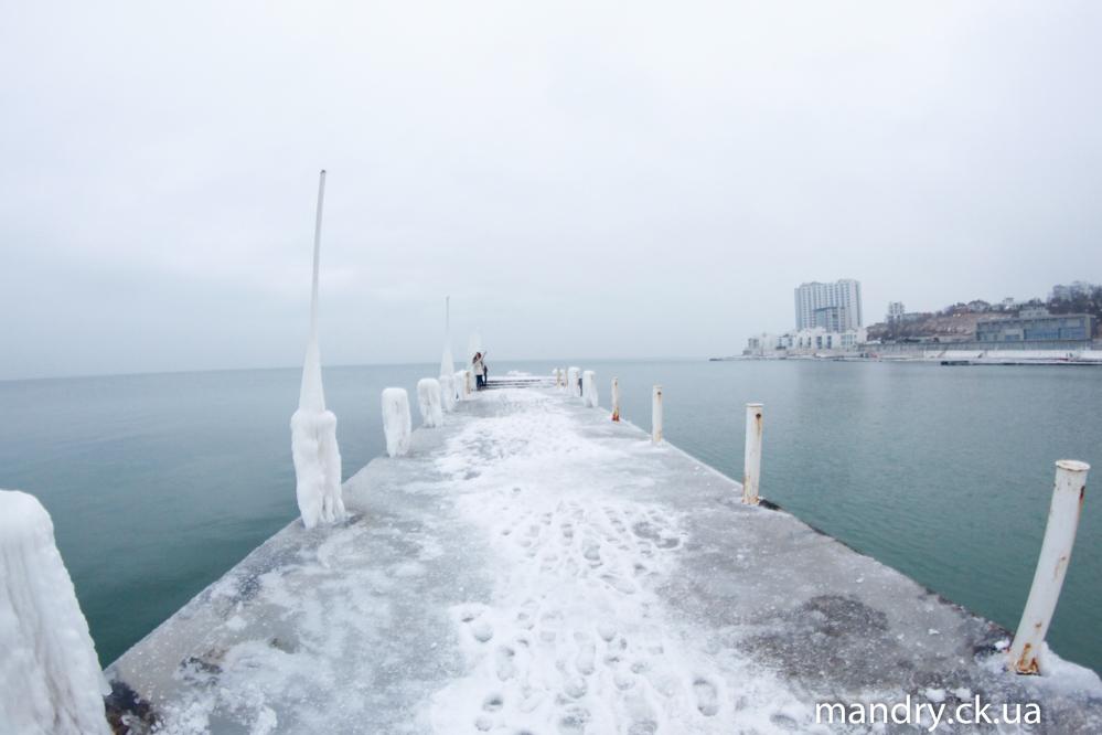 Одеса море зимою