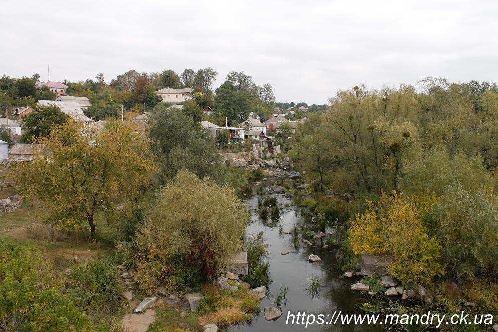 вид з мосту в Богуславі
