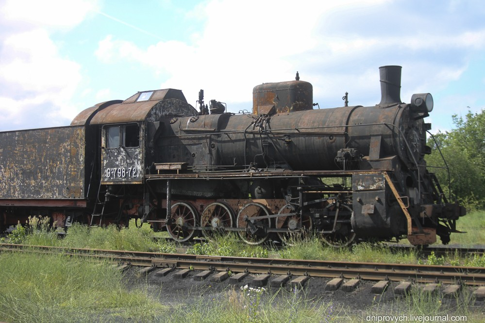 паровоз на станції Цвіткове