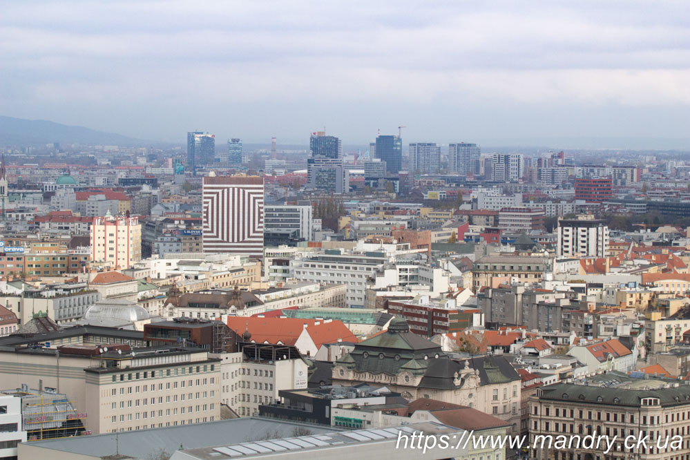 вид на Братиславу з мосту СНП