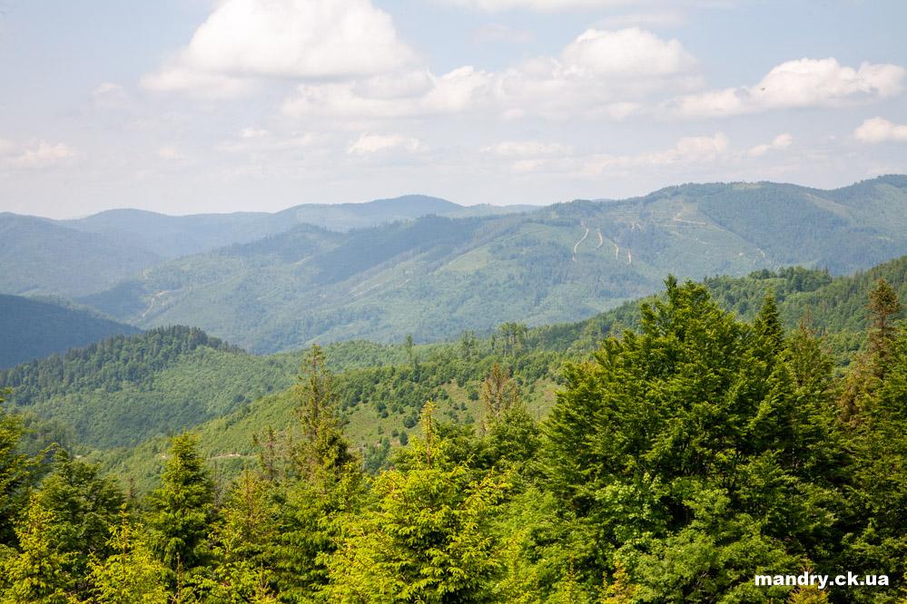 вид на гірські вершини