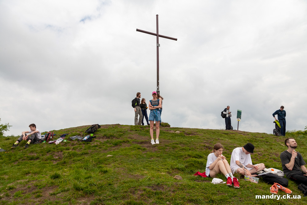 туристи на горі Парашка